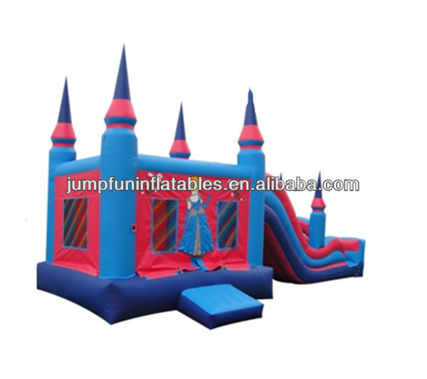 Princess inflatable combo/Jumping castle and slide
