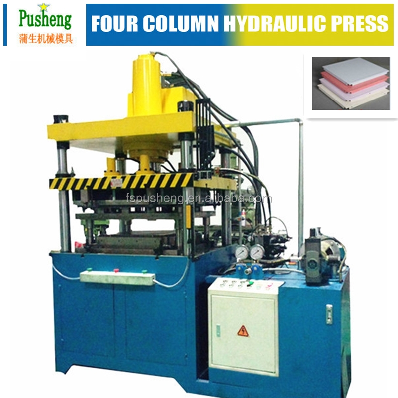 extrusion hydraulic press four columns hydraulic press for 300*600 automatic aluminum ceiling tiles