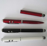 4 in 1 led red laser pointer ball pen with stylus pen and led light