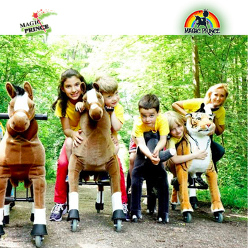 Hot sale , furry horse riding mechanical, kids tiger animal scooter price, tiger animal cycels