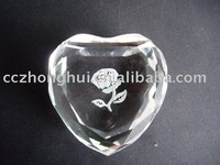 Fashion crystal paperweight in heart shape