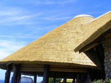 plastic synthetic resin thatch roofing tile for gazebos