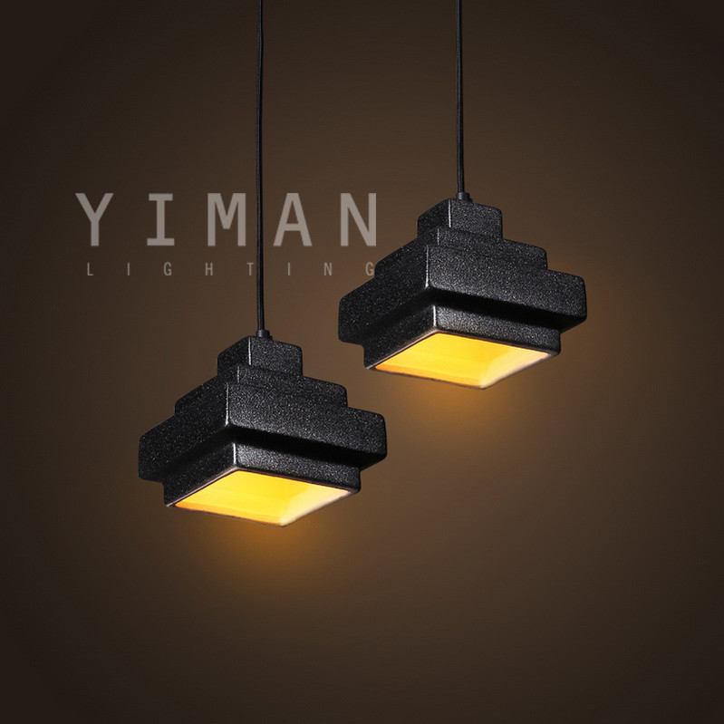 Ceramics Pendant lighting black Pendant light fixture Industrial Retro Pendant light