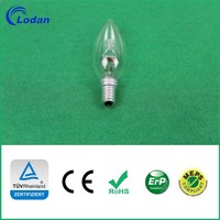 halogen flood light, Halogen Bulb Candle C35 18W