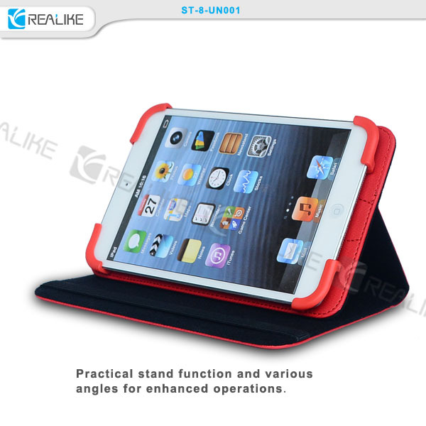 "wholesale 7"" inch universal tablet leather case"