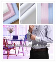 Liquid ammonia finishing cotton silk yarn dyed high-grade shirting fabric