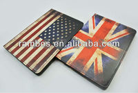 Flag vintage case, vintage leather case with USA flag for apple iPad mini