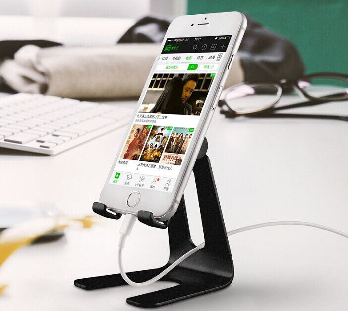 Adjustable cell phone stand,Tablet Stand Holder Aluminum alloy Stand Holder for Mobile Phone (All brand Size)