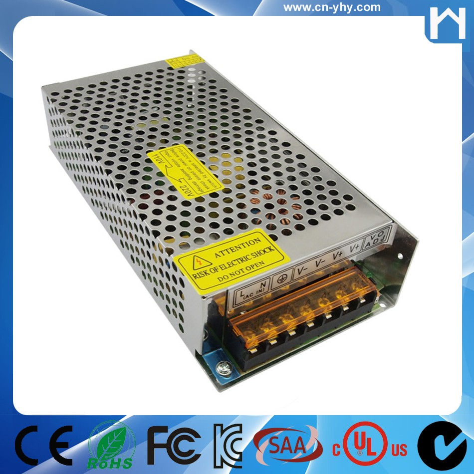 2017 hot switching led 10 amp 12v 10a power supply with ce fcc rohs