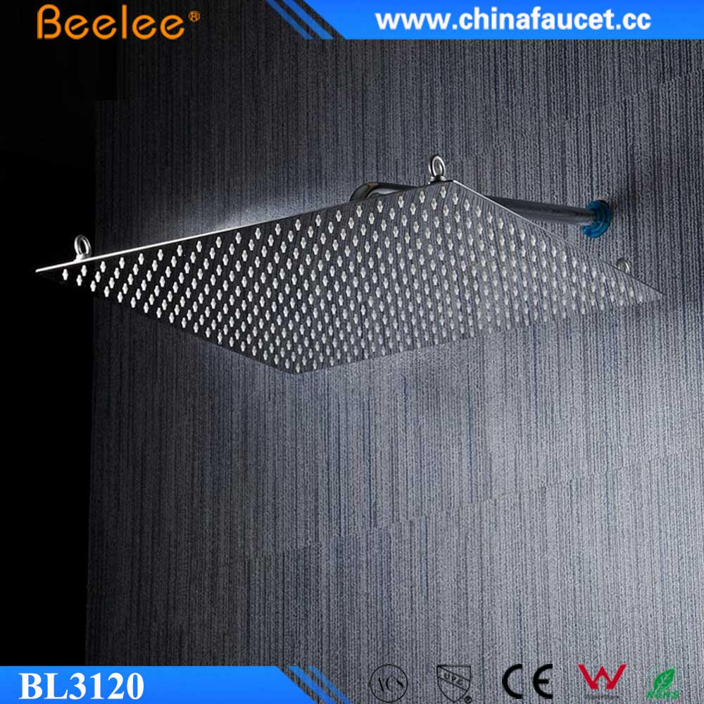 Beelee Ultra Thin Stainless Steel 50*50cm Large Bathroom Rainfall Shower Head