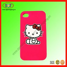 Cheap silicone custom 3d mobile case for iphone 4 cover