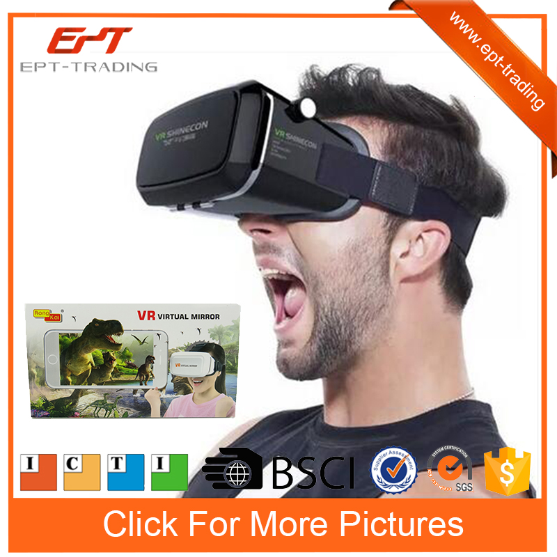 Amazing Vr virtual glass mirror 3d viewer for kids