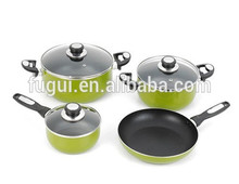 Home kitchen die cast aluminum enamel coating cookware pan set