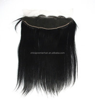 Light Yaki Virgin Brazilian Human Hair full lace frontal closures