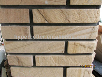 Yellow sandstone small wall stone