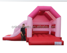 Pink Side Slide Combo Bouncy Castle/inflatable castle combo