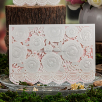 White wedding supplies/ Wedding Invitation card /greeting card cw5118