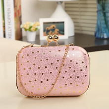 Taobao China Online Market Dropship Products Wholesale Alibaba New Fashion Women Plain Box Clutch Bag