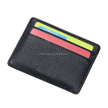 Custom high quality leather credit card holder case