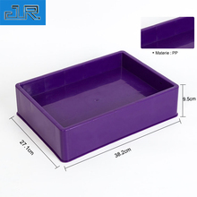 Small Capacity Plastic Stackable Storage Mineral Water Packaging Box