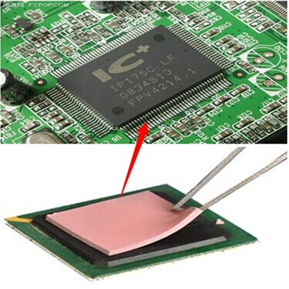 Soft And High Compressibility Heat Transfer Thermal Silicone Pad For Heatsink