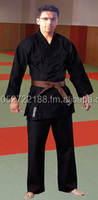 Karate Black Uniform 100 Cotton Midium Weight Custom Made