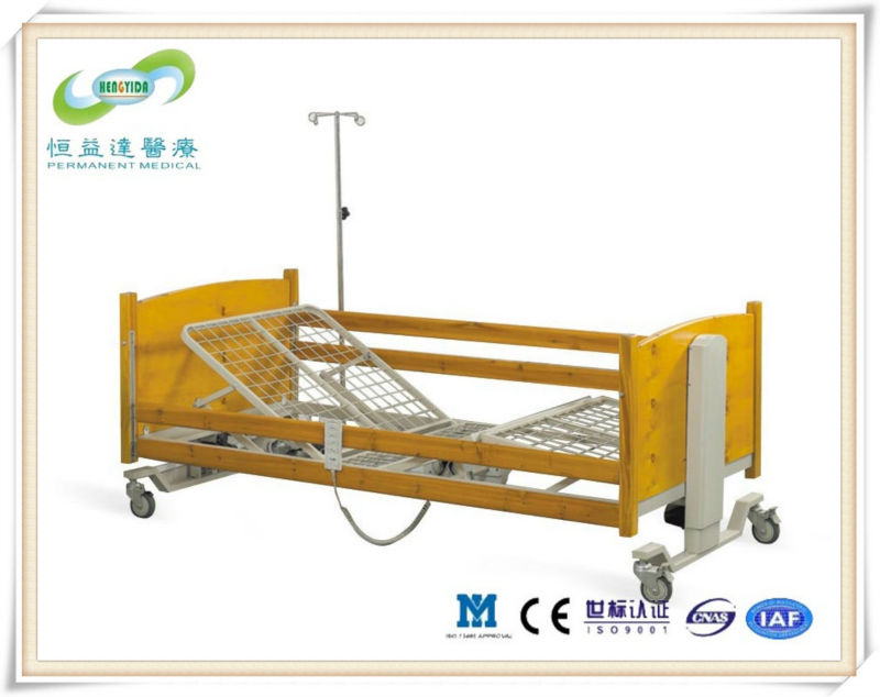 Electric five-function wooden nursing home care bed for elderly care house