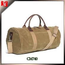 High Quality New Design Waxed Cotton Canvas Travel Duffle Bag