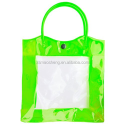 Clear pvc plastic shampoo bag foot spa plastic bag