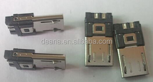 Micro usb 5p male connector with welding boad, Suitable for lead wire USB header