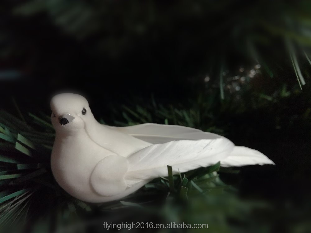 11cm white feather pigeon