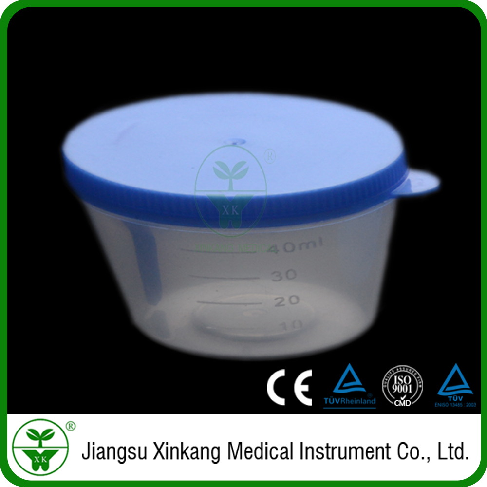 Free samples direct sale quality guaranteed medical Stool Container 40ml( hand-pressed cover)