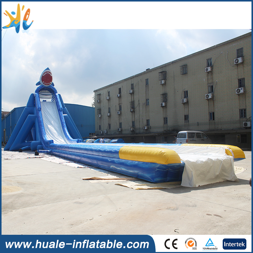 High quality giant shark high speed inflatable water slide for adult