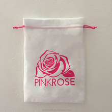custom suede jewelry drawstring bag pouch with logo wholesale