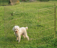 Large Metal Wire Dog & Cat Fence 8 Panels Playpen