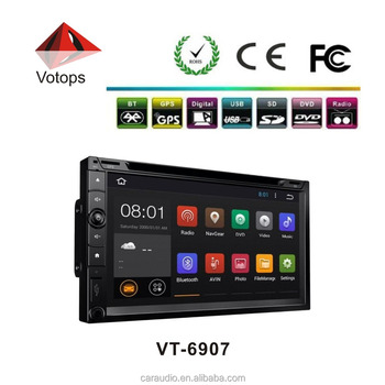 Votops 6.95inch Universal 2 din dvd with GPS navigation/TV/BT/MP3/MP4/FM/AM