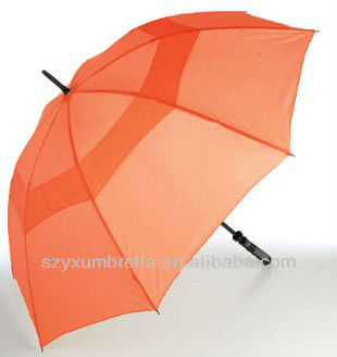 The Alsa Vented Windproof Golf Umbrella - Orange