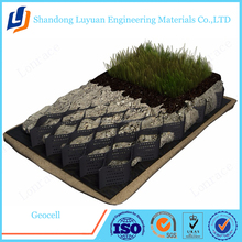 Smooth Surface hdpe geocell / gravel grid used in road construction