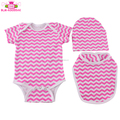 Wholesale New Style Baby Onesie+Hat+Bib 3pcs Unisex Baby Girl Or Boys Clothes Romper Set Cotton Plain Baby Rompers