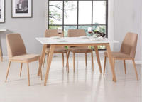 modern dinning room furniture MDF dinning table and chairs