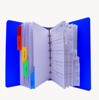 Hot welcome sale Blue PP cover spiral notebook with colored index tab divider