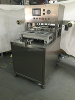 DS-ADM300D floor type tray sealer with vacuum and gas flushing