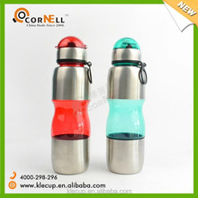 Hot Selling Product Promotional Gift Portable Water Carafe plastic +S/S Water Bottle