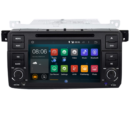 "7"" digital Touch Screen car pc android 7.1 for BMW E46 M3 Wifi 3G 1024*600 Bluetooth Radio USB SD Steering wheel Canbus"