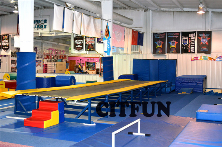 original tumbling track for practicing back drop