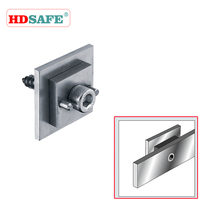 glass door hardware connecting wall clamp fixing for track