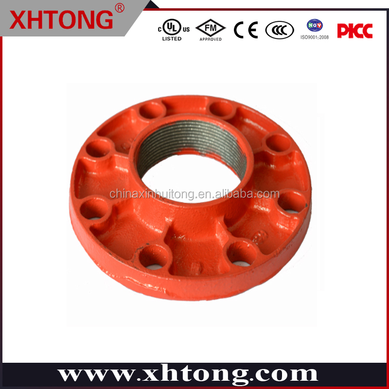threaded adaptor flange NPT BSPT square head flange connection XHTONG 165.1mm