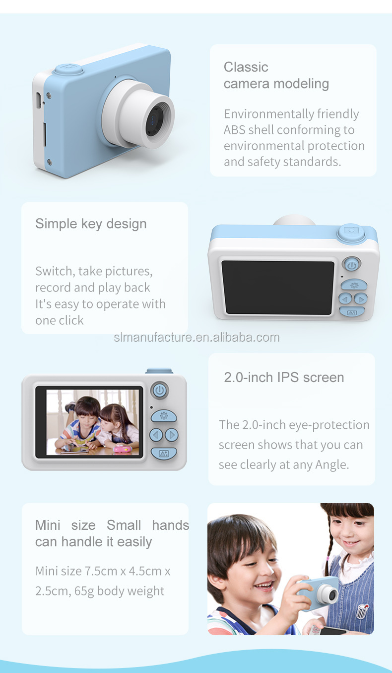 Built-in Lithium battery Fun photo sticker waterproof shockproof cartoon smart kids camera