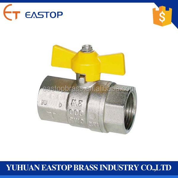 Low Price Hand Operated Union End 3/4 Inch Brass Ball Valve With Nipple