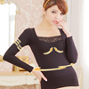 Lace Embroidered Long Sleeve Inner Wear Thermal Underwear for ladies latest design black color red color Y105